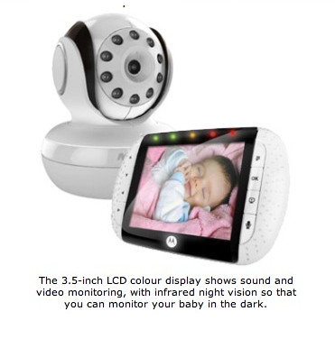 Motorola เบบี้มอนิเตอร์ รุ่น MBP36 Wireless Digital Video BABY Monitor 3.5 LARGE Colour LCD Screen